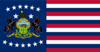 Pennsylvania State Flag Proposal No 12 Designed By Stephen Richard Barlow 01 SEP 2014 at 1624hrs cst