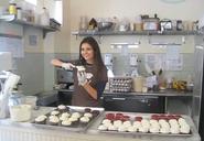 Victoria making cupcakes