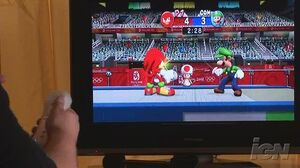 Mario & Sonic at the Olympic Games Nintendo Wii Gameplay - Fencing (Off-Screen)