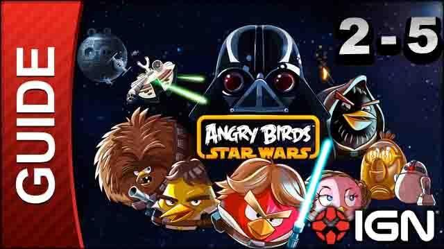 Angry Birds Star Wars Death Star Level 2-5 3 Star Walkthrough