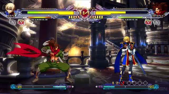 BlazBlue Continuum Shift PS3 - Jin vs