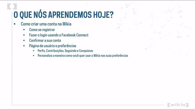 Universidade da Wikia - Criando uma conta na Wikia