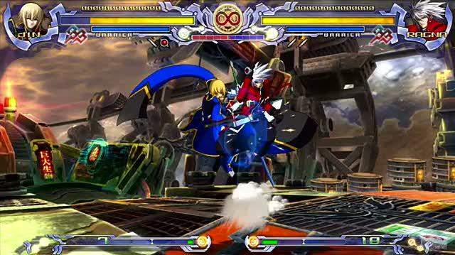 BlazBlue Calamity Trigger (Limited Edition) PlayStation 3 Gameplay - Jin vs