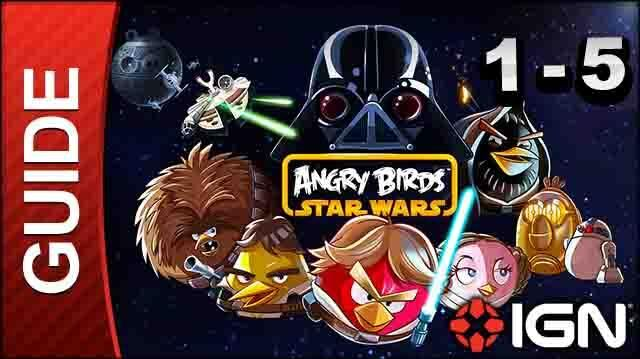 Angry Birds Star Wars Tatooine Level 5 3-Star Walkthrough