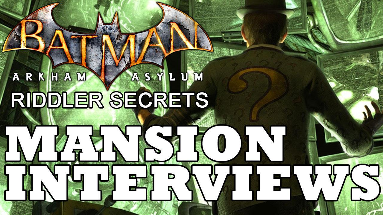 Batman Arkham Asylum Arkham Mansion Patient Interview Locations