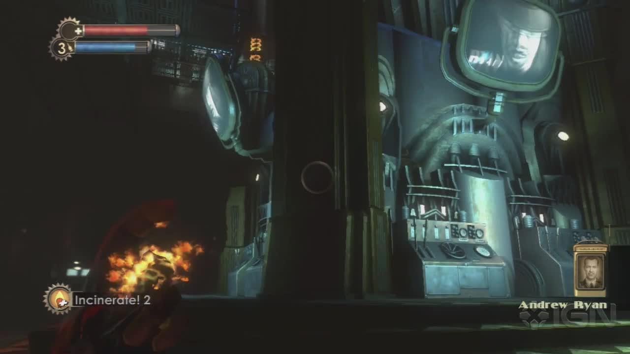 BioShock - Ryan Overloads the Core - Gameplay