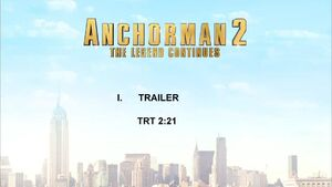 Anchorman 2 - Blu-ray DVD Trailer