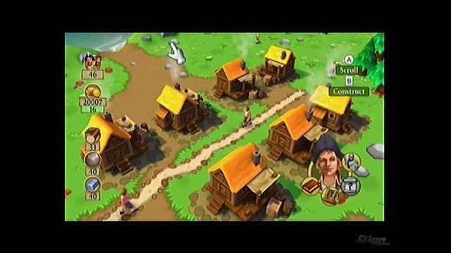 Dawn of Discovery Nintendo Wii Gameplay - Constructing Street Video
