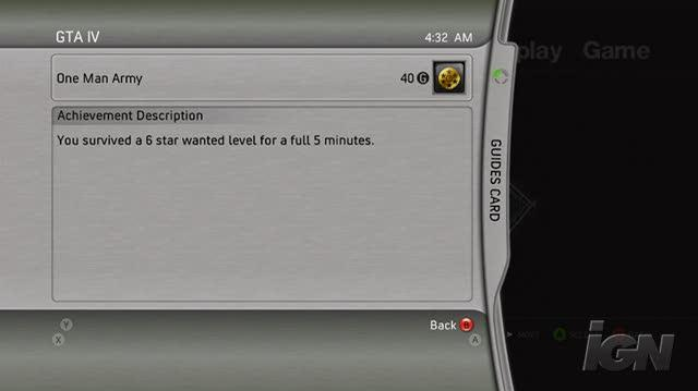 Grand Theft Auto IV Xbox 360 Video - IGN Strategize One Man Army Achievement