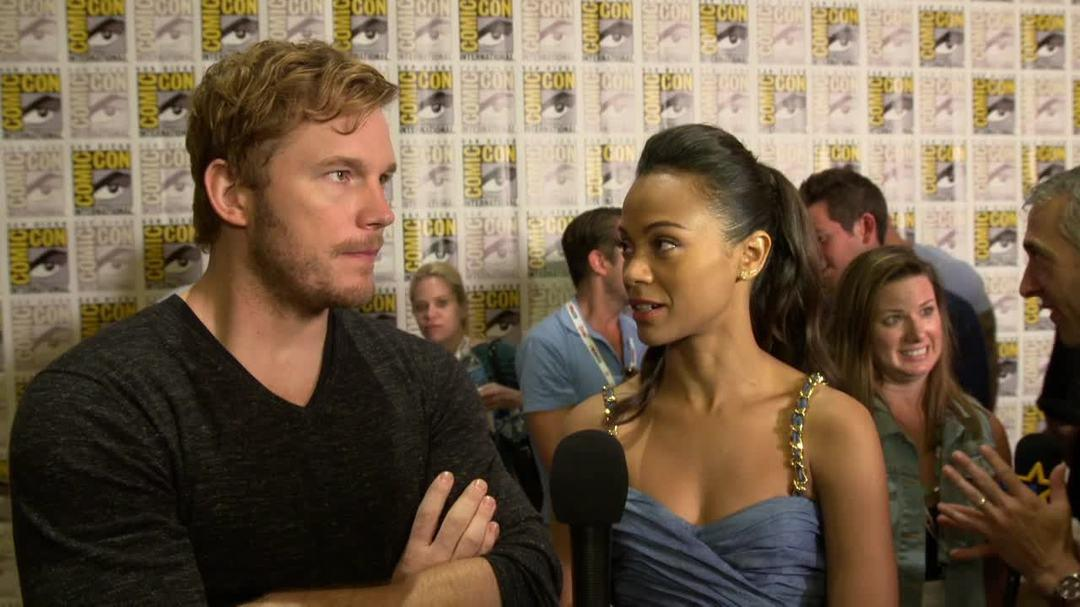 Guardians of the Galaxy Comic-Con 2013 Interview - Chris Pratt & Zoe Saldana