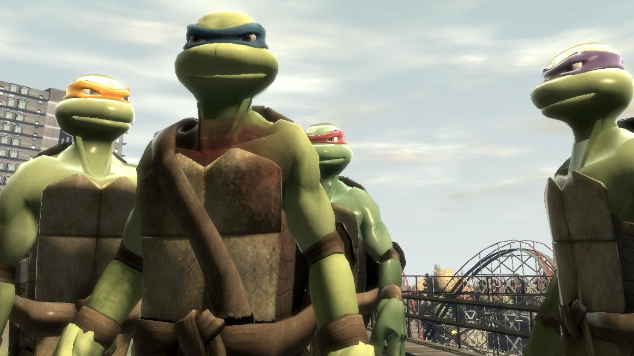 Teenage Mutant Ninja Turtles TMNT Mod for Grand Theft Auto IV - GTA IV Mods