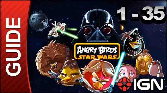 Angry Birds Star Wars Tatooine Level 1-35 3 Star Walkthrough