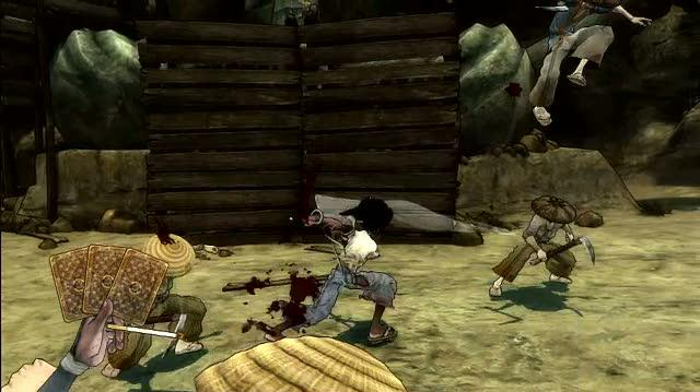 Afro Samurai PlayStation 3 Gameplay - Body Part Poker 2008 12 19