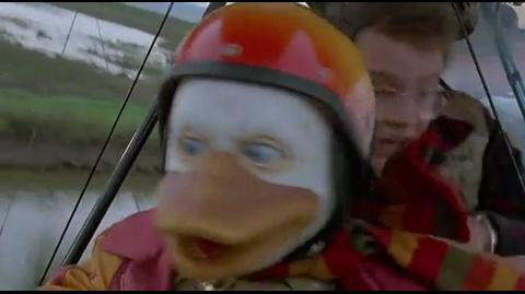Howard the Duck - plane damaged