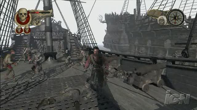 Pirates of the Caribbean At World's End Xbox 360 Gameplay - Pirate Combat