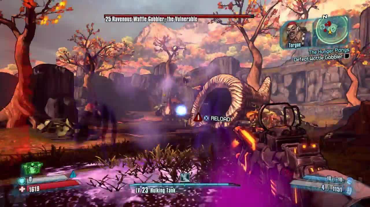 Borderlands 2 Ravenous Wattle Gobbler Boss Fight Commentary