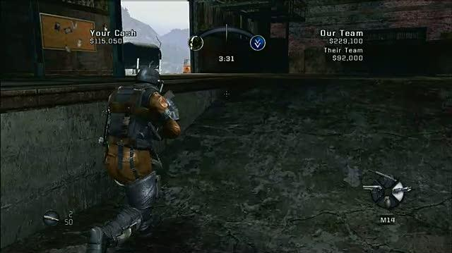 Army of Two Xbox 360 Gameplay - Barrel Explode (HD)