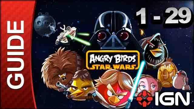 Angry Birds Star Wars Tatooine Level 1-29 3 Star Walkthrough