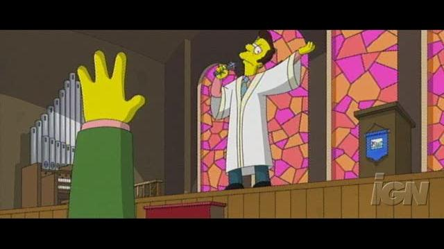 The Simpsons Movie Movie Clip - Lovejoy and Flanders IN Church