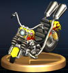 Wario Bike - Brawl Trophy