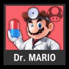 Super Smash Bros. Strife character box - Dr. Mario