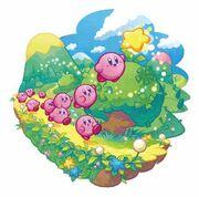 Kirby Mass Attack arte - Arboleda Verde