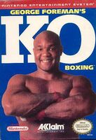 George Foreman's KO Boxing NES portada
