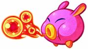 Kirby Mass Attack arte - Fire Noserunt