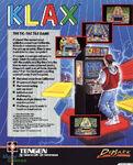 Klax Commodore 64 reverso UK