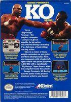 George Foreman's KO Boxing NES reverso