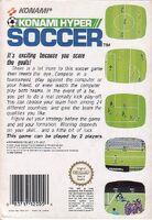 Konami Hyper Soccer - back