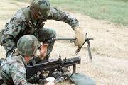 M60 machine gun barrel change DF-ST-90-04667