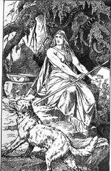 Hellhound (1889) by Johannes Gehrts