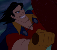 Gaston grinning evilly
