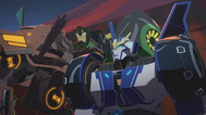 Strongarm and Grimlock Got to Catch a Quillfire