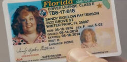 Diana's fake ID card