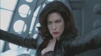 Lara Flynn Boyle Serleena leather outfit