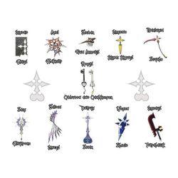 Organization XIII Weapons