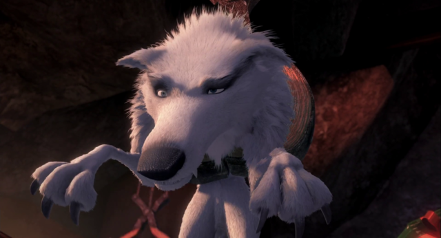 File:White Wolf caught in claw.png