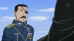 Fullmetal alchemist eyepatch king bradley desktop 1280x720 wallpaper-276811