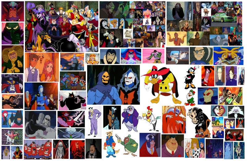 Lista dei cattivi cartoni animati e anime villains