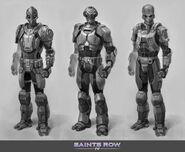 Zin - early Zin Soldier Concept Art - 3 versions of armour and head
