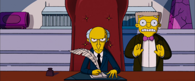 Montgomery Burns the simpsons movie