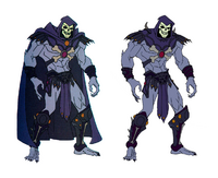 He-man skeletor-model sheet with-cape without-cape
