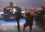 Undertaker being protected by Chuck Norris