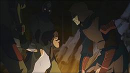 Amon threatening Korra