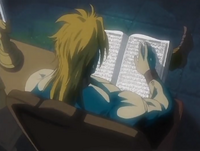 Dio reading in the dark