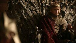 Joffrey Baratheon on the Iron Throne HBO