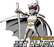 Jet black white