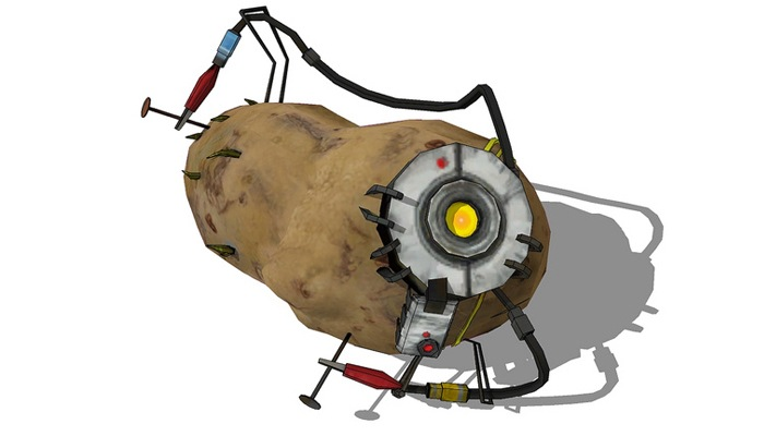 glados portal 2 potato - photo #1